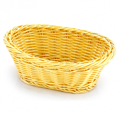 Basket - Oval Shape (Poly-Rattan) 28cm x 16cm - Heavy Duty