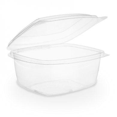 Bio Compostable Hinged Lid Deli Container - 16oz/450ml (Pack