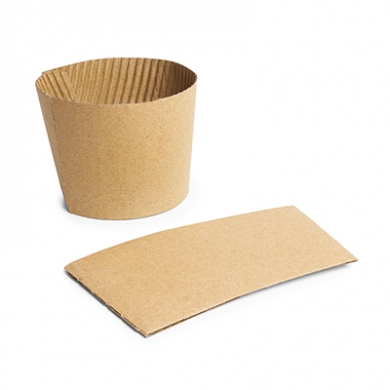 Bio Compostable SLEEVE For 89mm Rim Cups (Pk of 25)