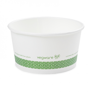 Bio Compostable Ice Cream/Soup Pots 115mm - 12oz (Pack of 25