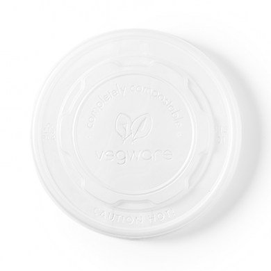 Bio Compostable Ice Cream/Soup Pot Flat LIDS 115mm (Pk of 50