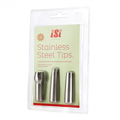 ISI Stainless Steel Decorator Tips (Pack of 3)