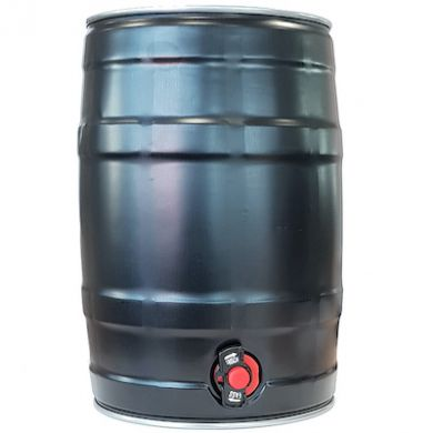 Mini Beer/Cocktail Keg with Tap BLACK - Inc Handle and Bung