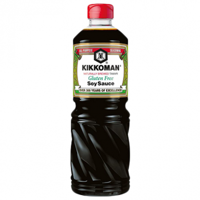 Kikkoman Naturally Brewed Tamari Soy Sauce (1L) Gluten Free