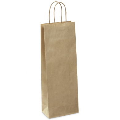Kraft Paper Bottle Bag (140 x 390 x 80mm)