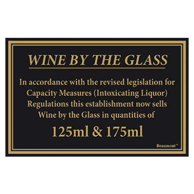 Law Sign - Wine By The Glass (125ml & 175ml)