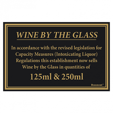 Law Sign - Wine By The Glass (125ml and 250ml)