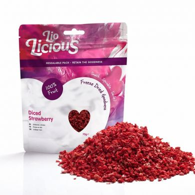 Freeze Dried Diced Strawberries (70g)
