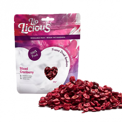 Freeze Dried Sliced Cranberries (25g)
