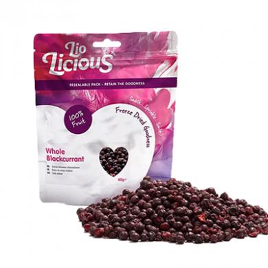 Freeze Dried Whole Blackcurrants (65g)