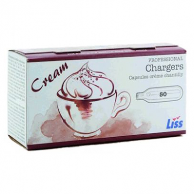 Liss 600 Cream Chargers - Case of 600 (Businesses Only)