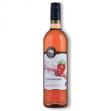 Lyme Bay Devon Wine - Strawberry Wine (75cl) 11% ABV