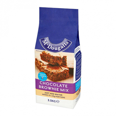 McDougalls Chocolate Brownie Mix (3.5kg) - OFFER BBE May 202
