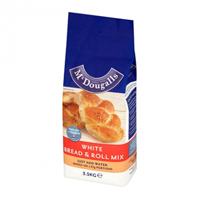 McDougalls White Bread and Roll Mix (3.5kg) - OFFER BBE Marc