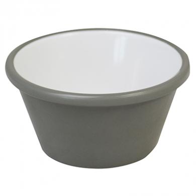 Melamine Ramekin - Grey and White 65mm Wide (59ml/2oz) - Pac