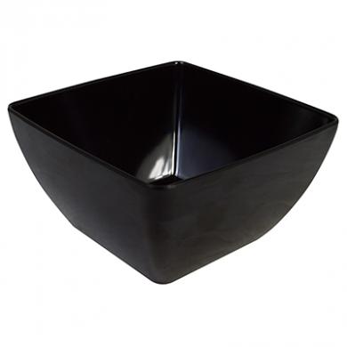 Melamine Square Bowl (19cm) - Black