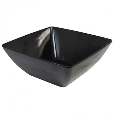 Melamine Square Bowl (26cm) - Black