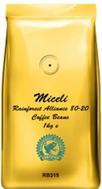 Miceli Rainforest Alliance Coffee Beans 80-20 (1kg)