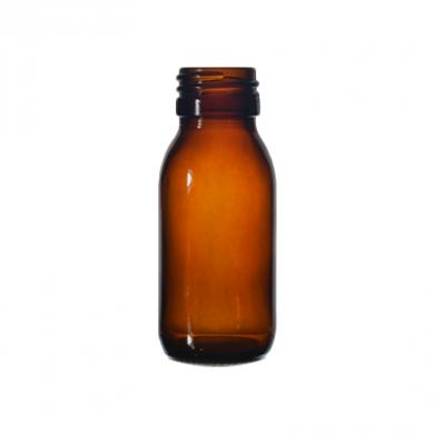 Mini Glass Bottle (60ml) - Amber