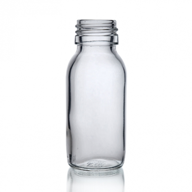 Mini Glass Bottle (60ml) - Clear Glass