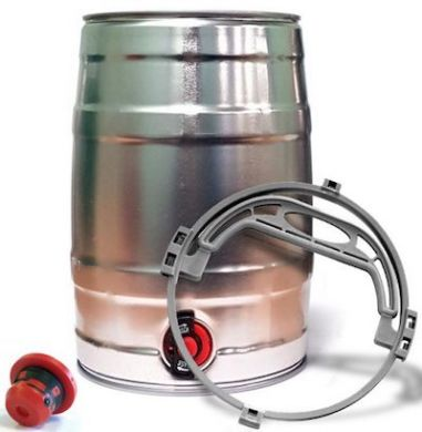 Mini Beer / Cocktail Keg with Tap - Inc Handle and Bung (5 L