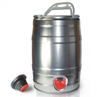 Mini Keg Silver with Bung and Handle (5 Litre)