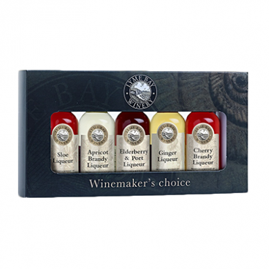 Lyme Bay Miniature Liqueurs Gift Box (5 x 50ml) 17% ABV