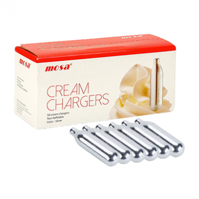 Cream Chargers by Mosa N2O Pack of 6 x 24s (144) Black Infus