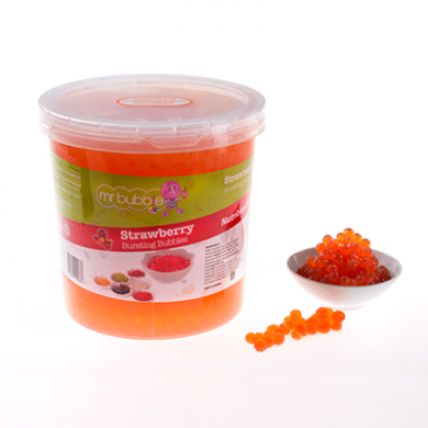 Mr Bubble Tea - Strawberry Bursting Bubbles (3.2kg)