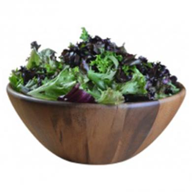 Naturals Acacia Wooden Salad Bowl (25x10cm)