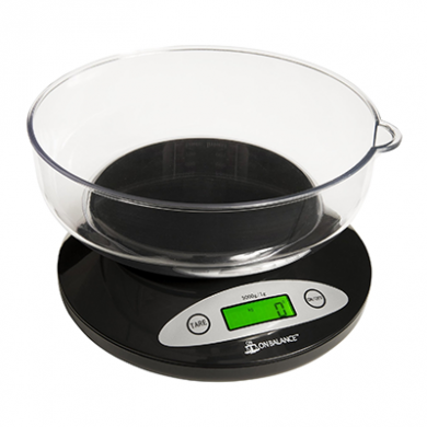 On Balance - Kitchen Scale with Bowl (5kg x 1g) Inc Batterie