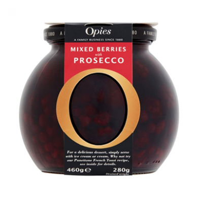 Opies Preserves in Globe Jar - Mixed Berries with Prosecco (