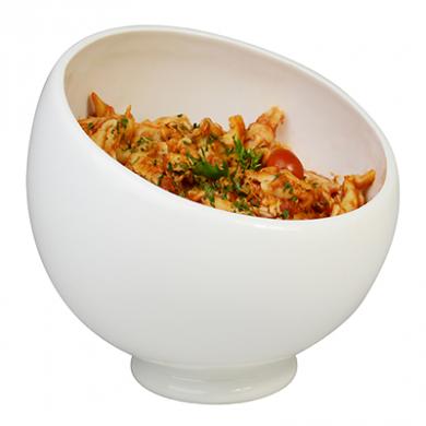 Angled Serving Bowl (24cm) - White Porcelain