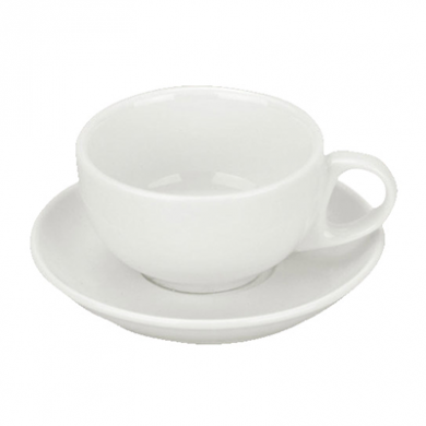 Orion Cappuccino SAUCER (105mm) - White Porcelain - (for 95m