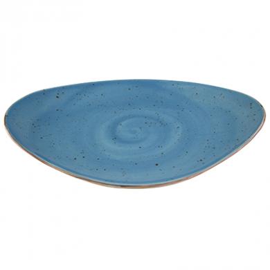 Elements Rustic Shaped Plate (36 x 23.5cm) - Ocean Mist