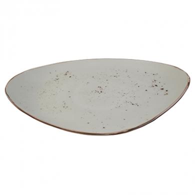 Elements Rustic Shaped Plate (36 x 23.5cm) - Sandstorm