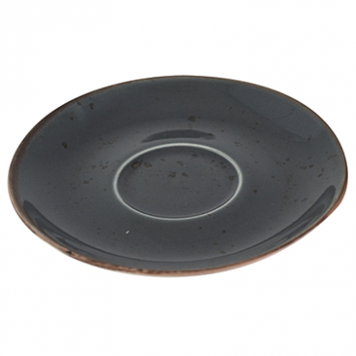 Elements Cappuccino Saucer (16cm) - Slate Grey CLEARANCE