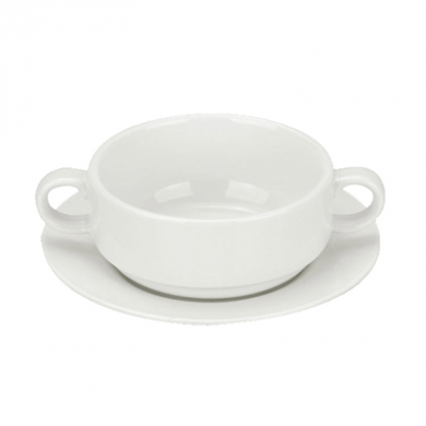 Orion Soup BOWL - Saucer Sold Separately (260ml) - White Por