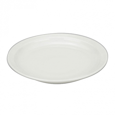 Orion Narrow Rim Plate (26cm/10 Inches) - White Porcelain