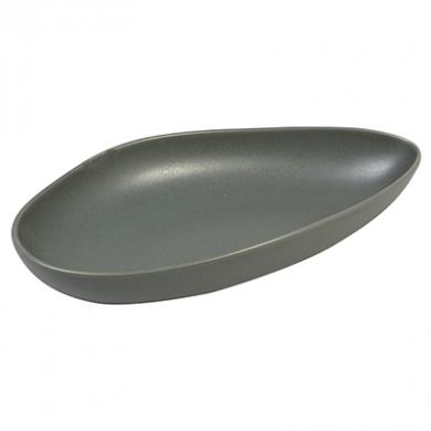 Ston Grey Porcelain - Leaf-Shaped Plate (20cm)