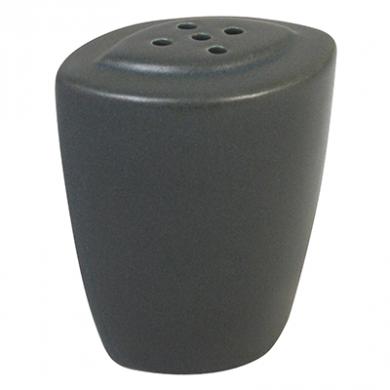 Ston Grey Porcelain - Modern Oval Pepper Shaker (6cm)