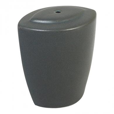 Ston Grey Porcelain - Modern Oval Salt Shaker (6cm)