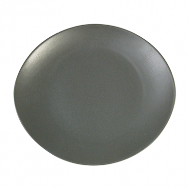 Ston Grey Porcelain - Oval Coupe Plate (18cm)