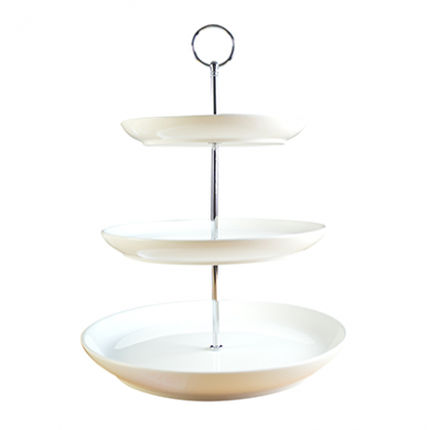 Orion Three-Tier Cake Stand - White Porcelain