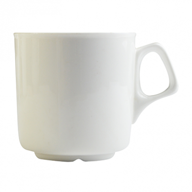 Orion Cafe Mug 300ml (10.5oz) - White Porcelain