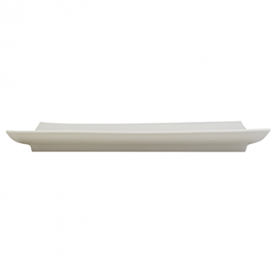 Orion Curved Plate (25cm) - White Porcelain
