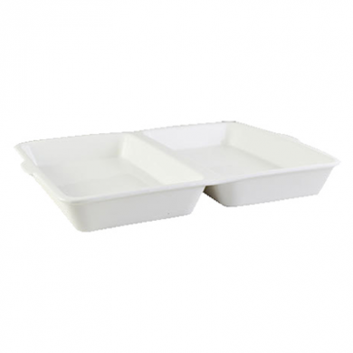 Orion Fish and Chip Box - White Porcelain - OFFER PRICE