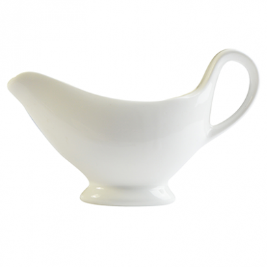 Orion Gravy Boat (250ml) - White Porcelain