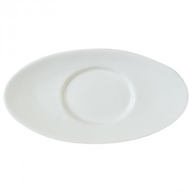 Orion Gravy Boat Saucer (20cm) - White Porcelain