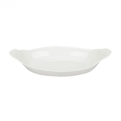 Orion Oval Eared Dish (25cm) - White Porcelain